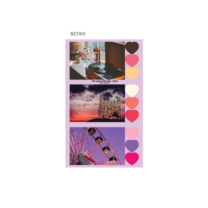 Retro - ICIEL Daily photo heart paper sticker