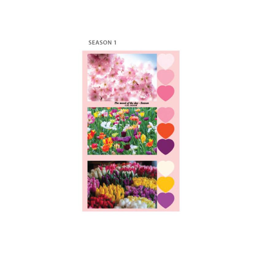 Season 1 - ICIEL Daily photo heart paper sticker