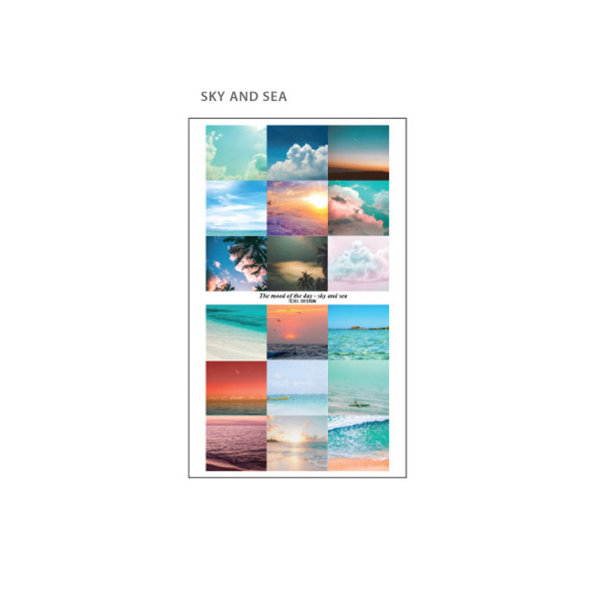 Sky and Sea - ICIEL Today mood photo heart paper sticker