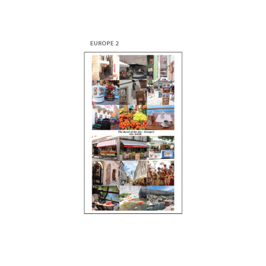 Europe 2 - ICIEL Today mood photo heart paper sticker