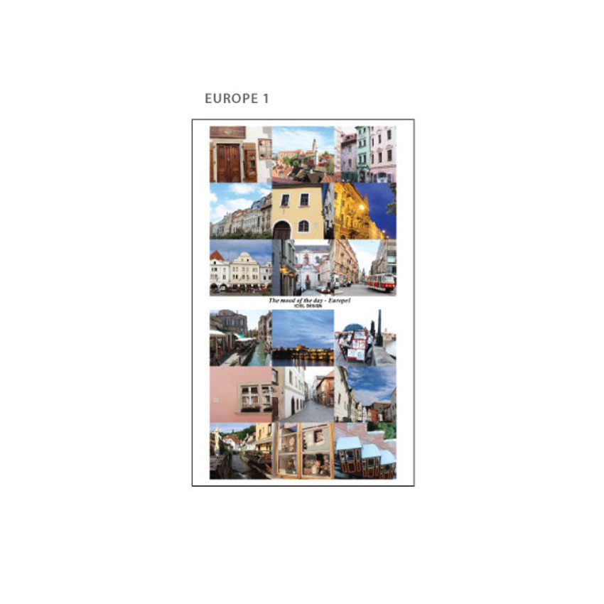 Europe 1 - ICIEL Today mood photo heart paper sticker