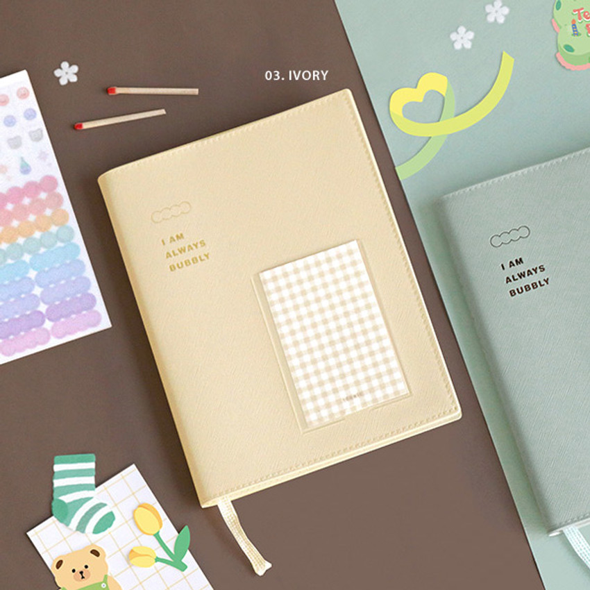 Ivory - ICONIC Bubbly dateless weekly diary planner