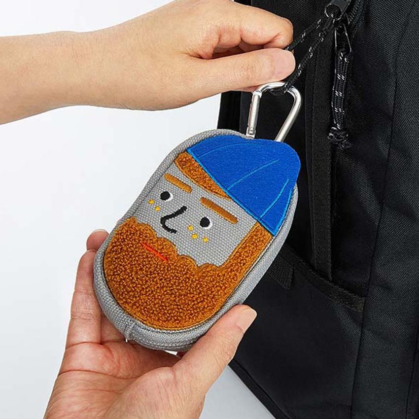 Key clip - Antenna Shop Boucle AirPods zipper case bag with key clip