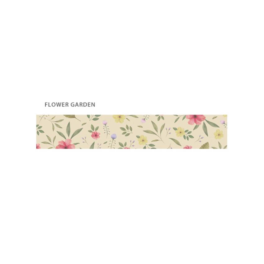 Flower garden - O-CHECK Illustration 15mm X 10m paper masking tape