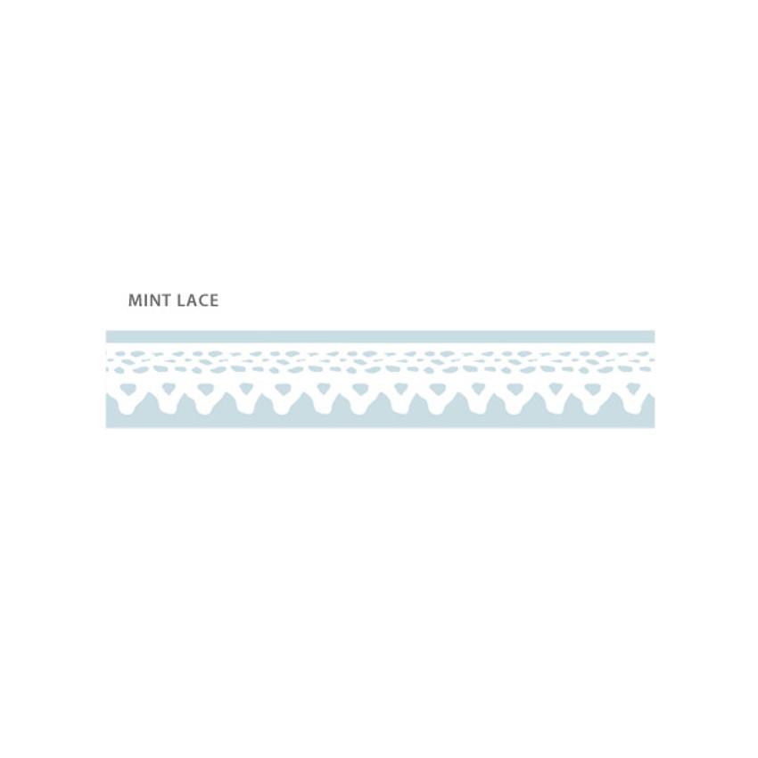Mint lace - O-CHECK Pattern 15mm X 10m paper masking tape