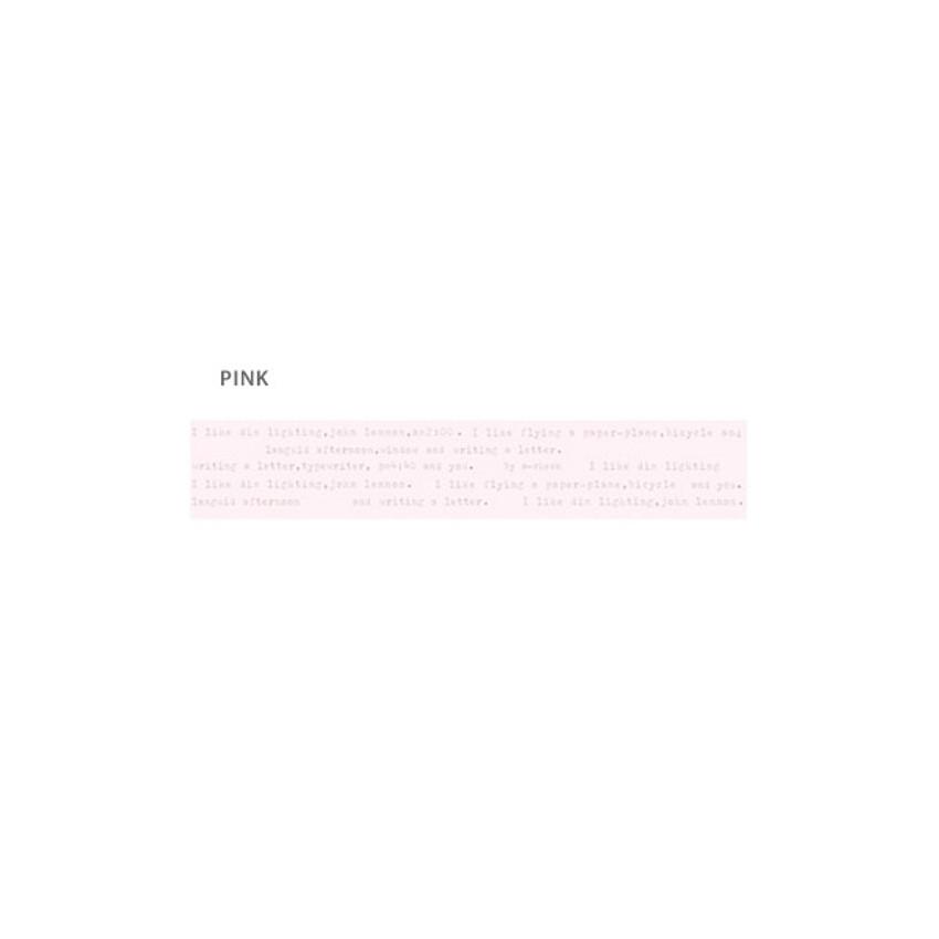 Pink - O-CHECK Vintage 15mm X 10m paper masking tape