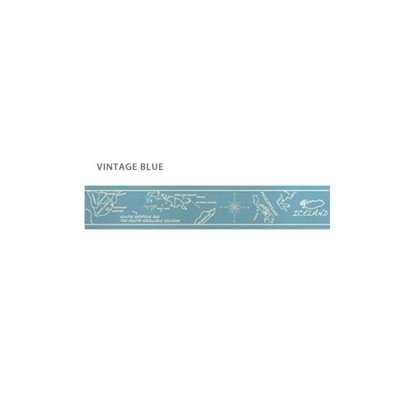 Vintage Blue - O-CHECK Vintage 15mm X 10m paper masking tape