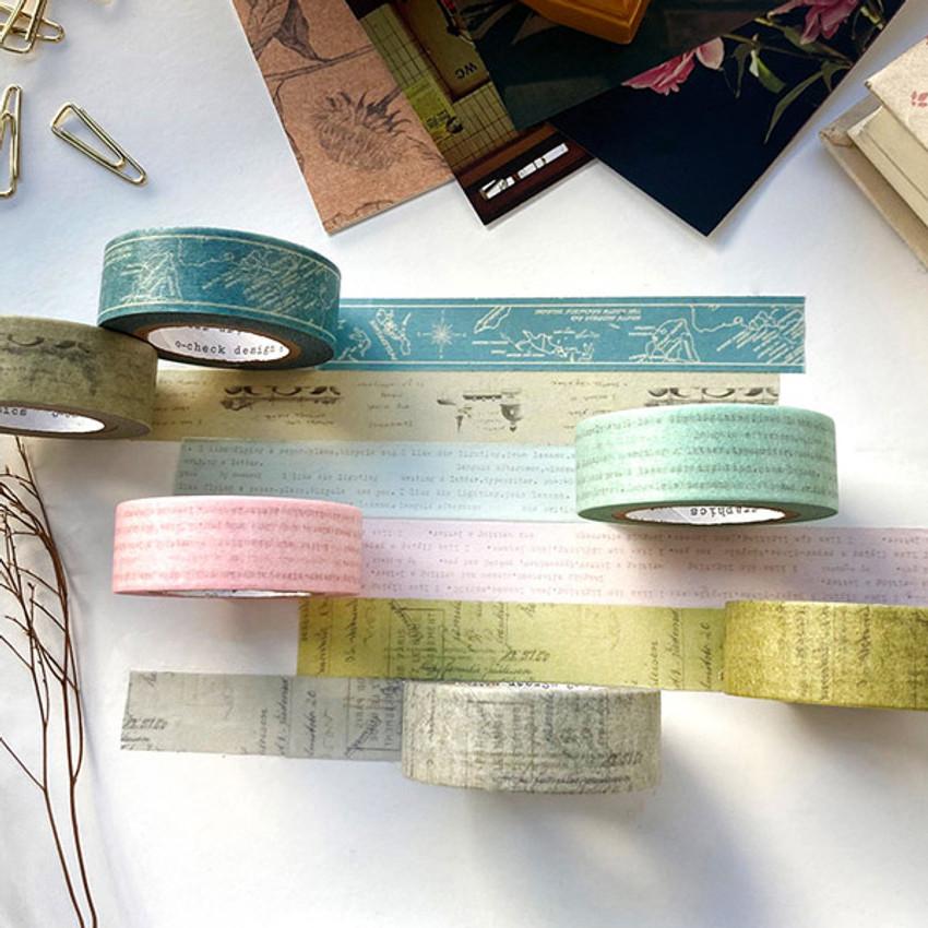 O-CHECK Vintage 15mm X 10m paper masking tape