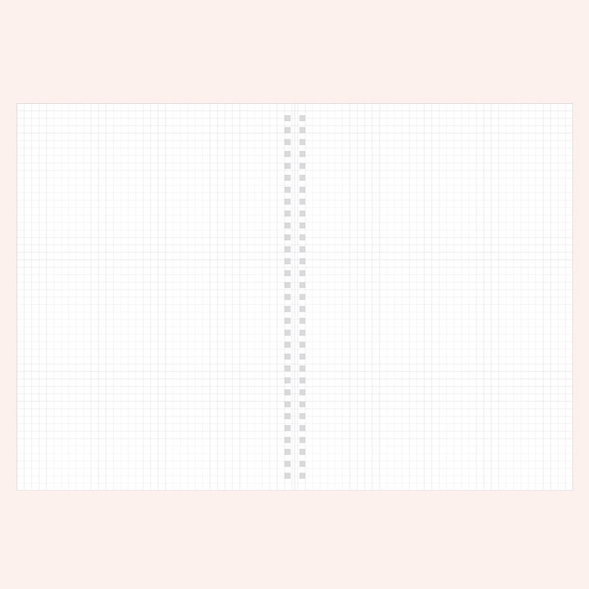 Grid notebook - Indigo Basic B5 wire binding grid notebook