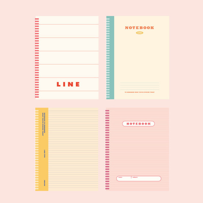 Indigo Basic B5 sprial binding lined notebook
