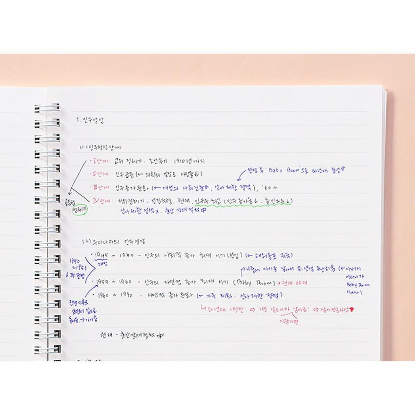 Usage example - Indigo Basic B5 sprial binding lined notebook