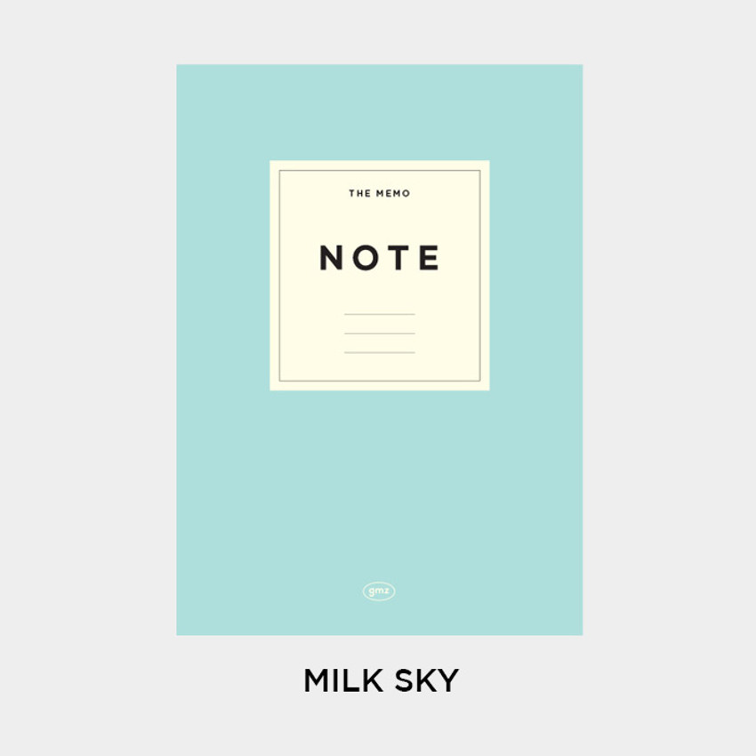 Milk Sky - Gunmangzeung The Memo lined school notebook