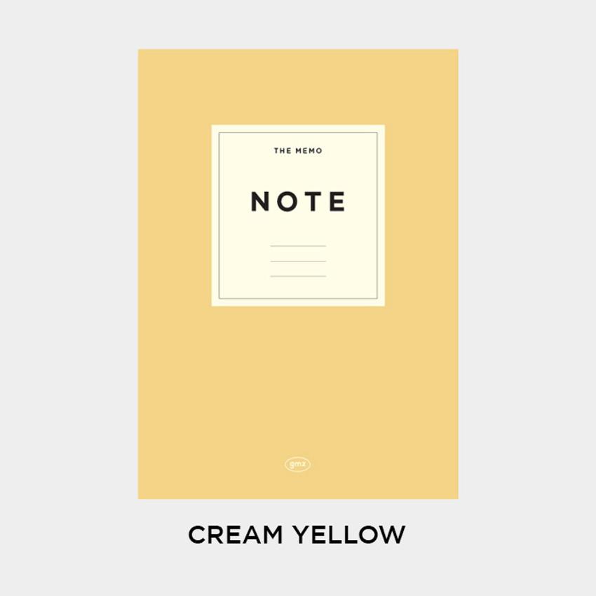Cream Yellow - Gunmangzeung The Memo lined school notebook