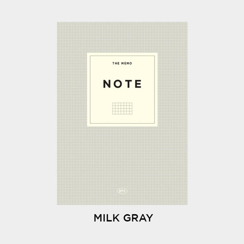 Milk Gray - Gunmangzeung The Memo grid school notebook