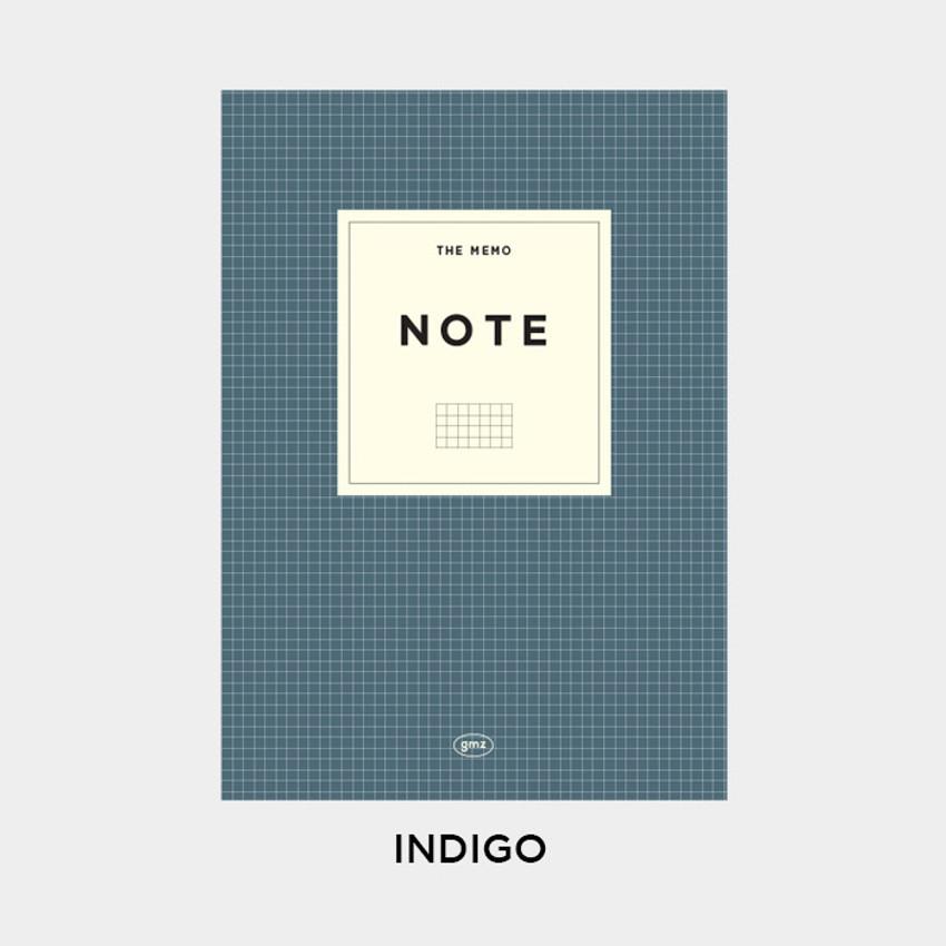 Indigo - Gunmangzeung The Memo grid school notebook