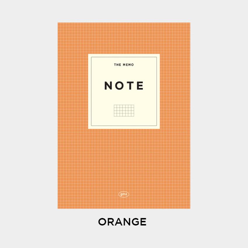 Orange - Gunmangzeung The Memo grid school notebook