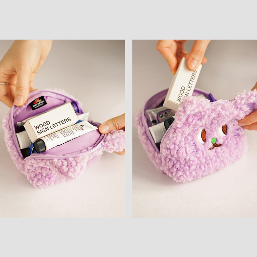 Second Mansion Jucy and Paul cute mongle zipper pouch