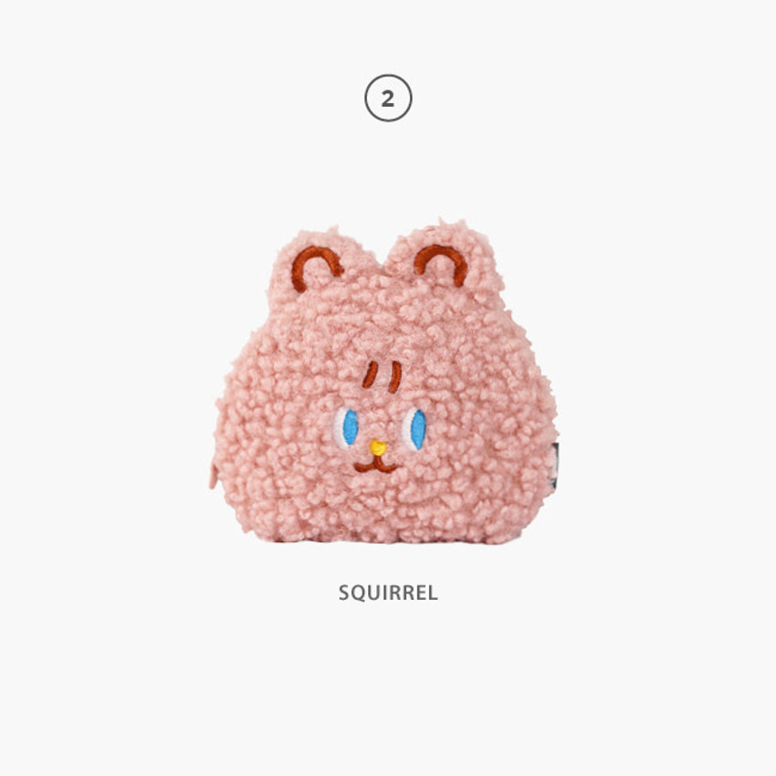 Squirrel - Second Mansion Jucy and Paul cute mongle zipper pouch