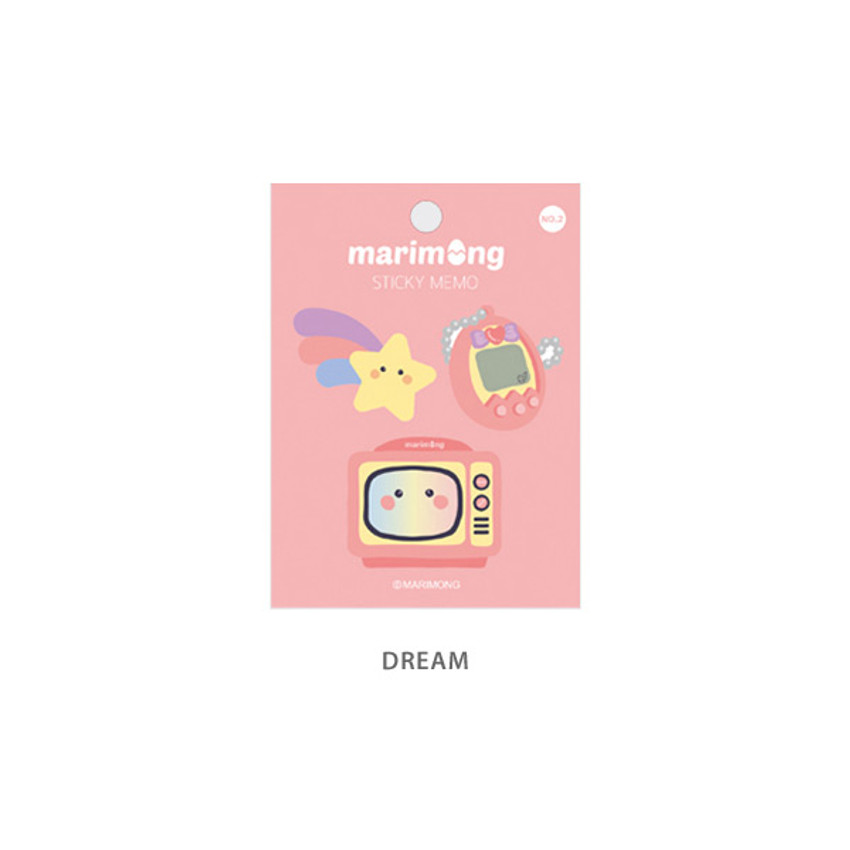 Dream - Flying Whales Marimong bookmark sticky notepad A set