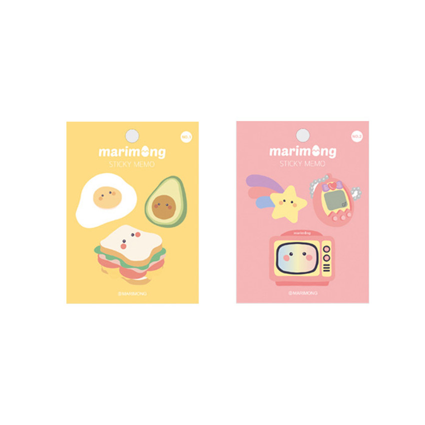 Flying Whales Marimong bookmark sticky notepad A set