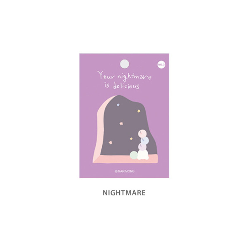 Nightmare - Flying Whales Marimong bookmark sticky notepad B set
