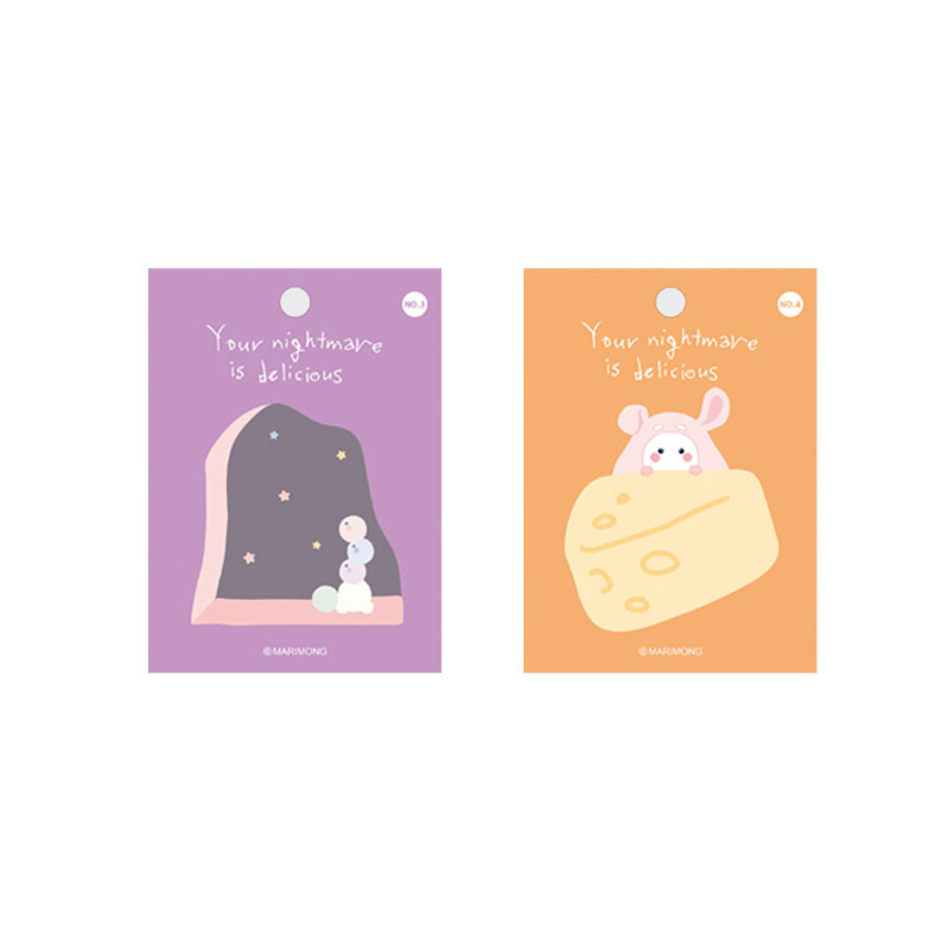 Flying Whales Marimong bookmark sticky notepad B set