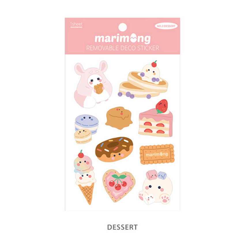 Dessert - Flying Whales Marimong removable paper sticker