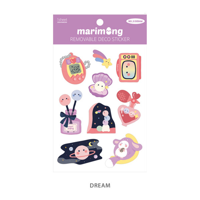 Dream - Flying Whales Marimong removable paper sticker