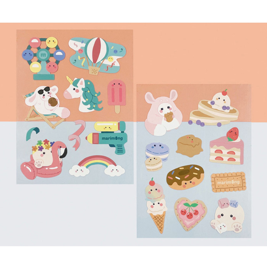 Flying Whales Marimong removable paper sticker