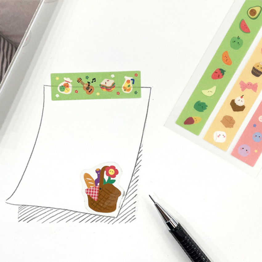 Usage example - Flying Whales Marimong cute masking deco sticker seal