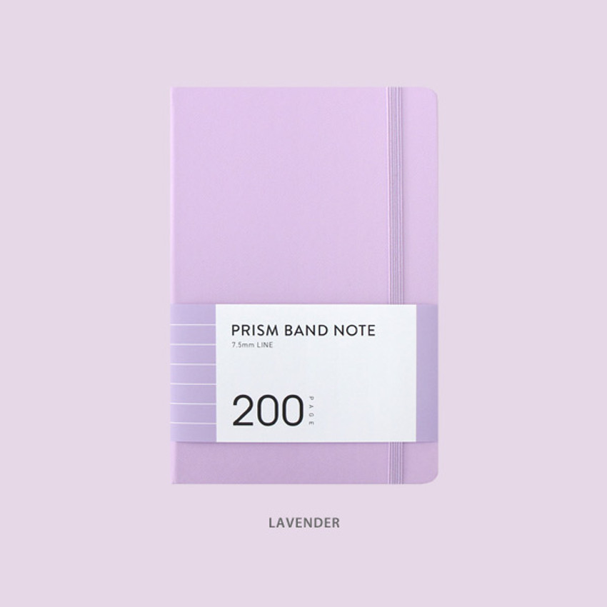 Lavender - Indigo Prism 200 hardcover lined notebook with elastic band