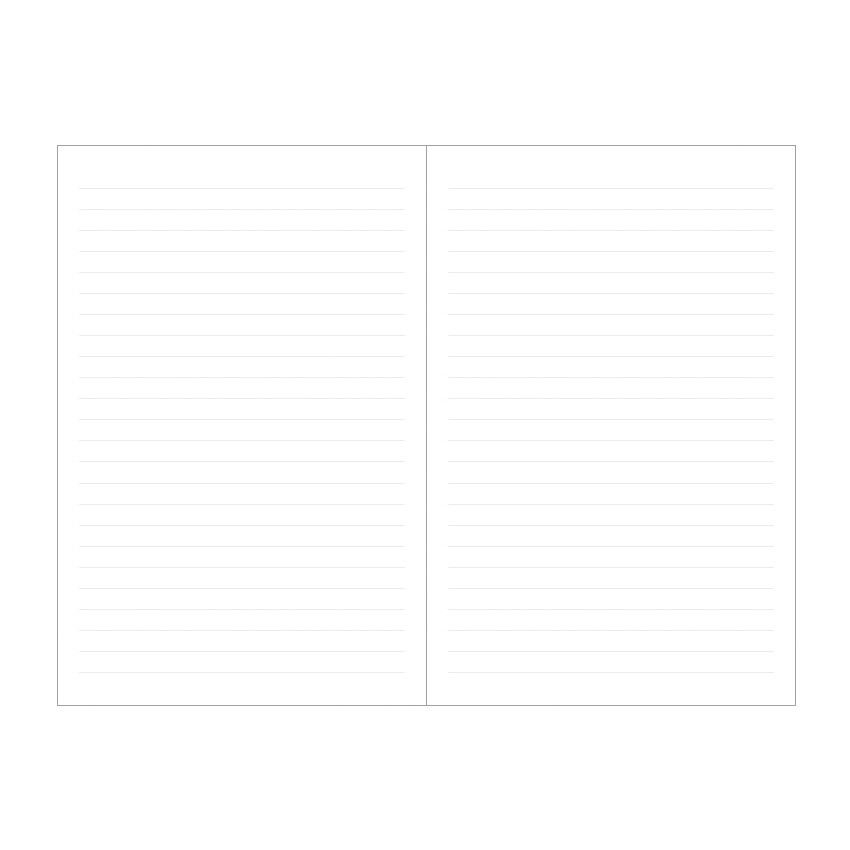 Lined notebook - Indigo Prism 200 hardcover lined notebook with elastic band