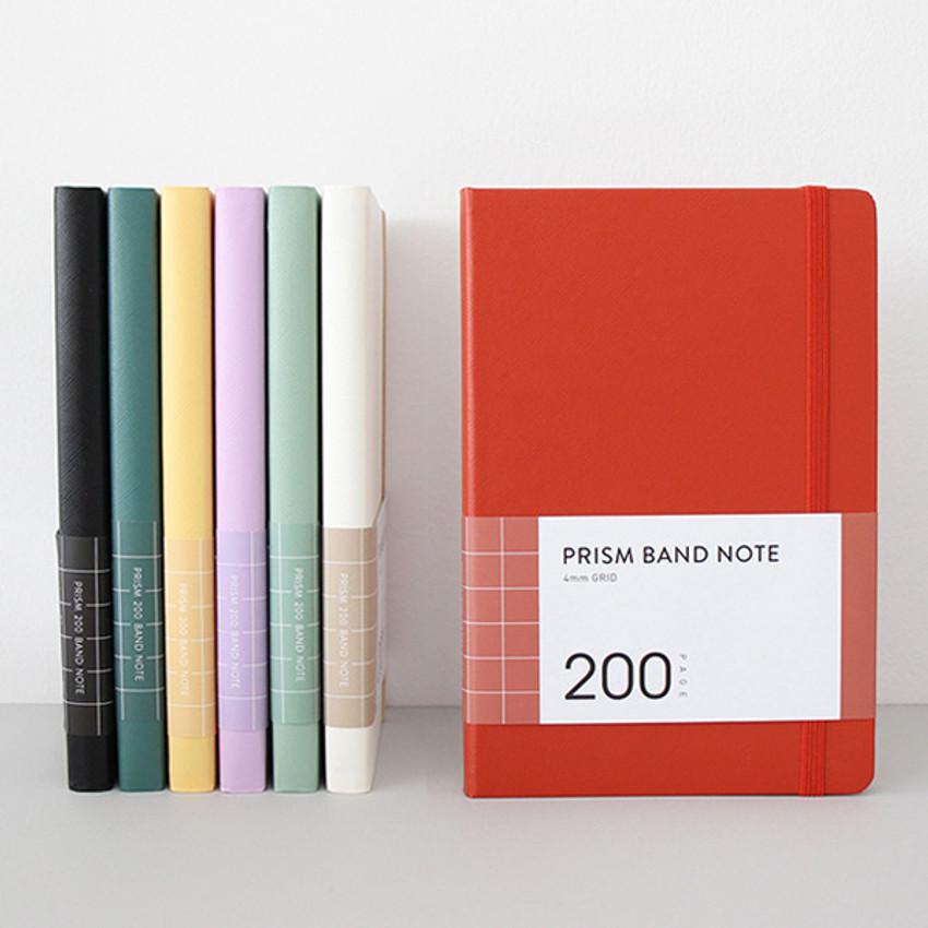 Indigo Prism 200 hardcover grid notebook with elastic band
