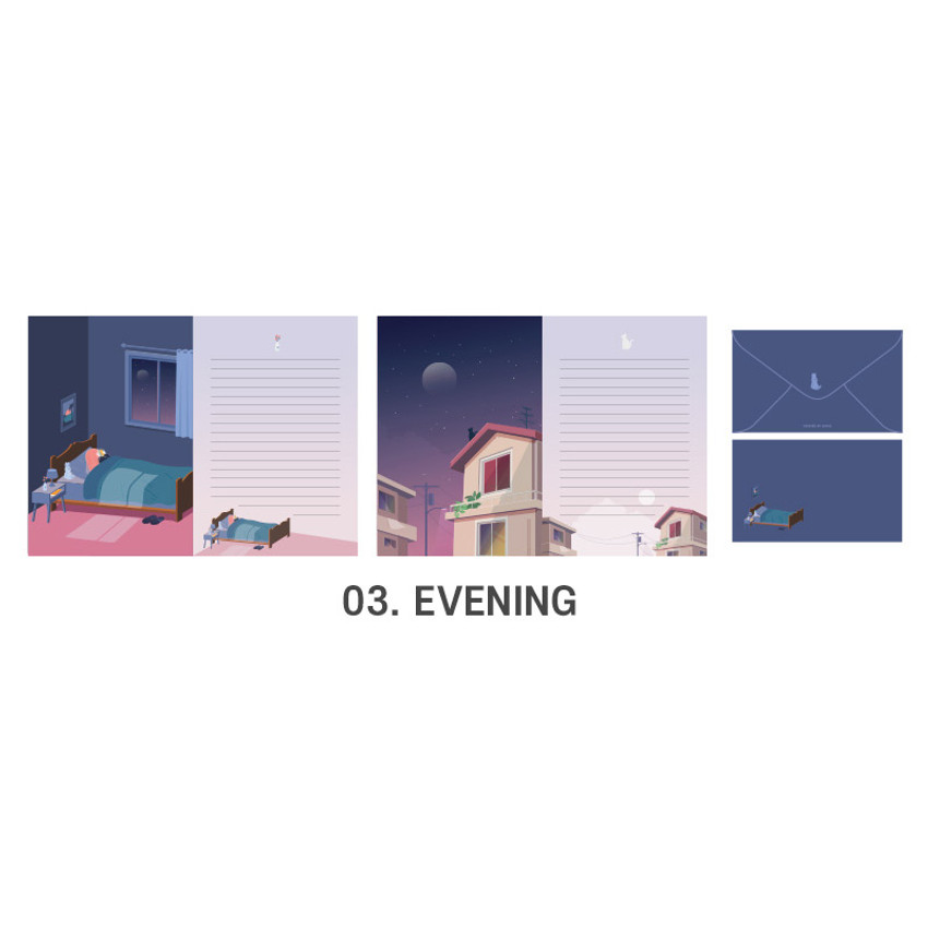 03 Evening - ICONIC Haru letter and envelope set