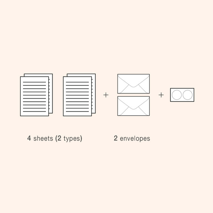 Set of ICONIC Haru letter and envelope set
