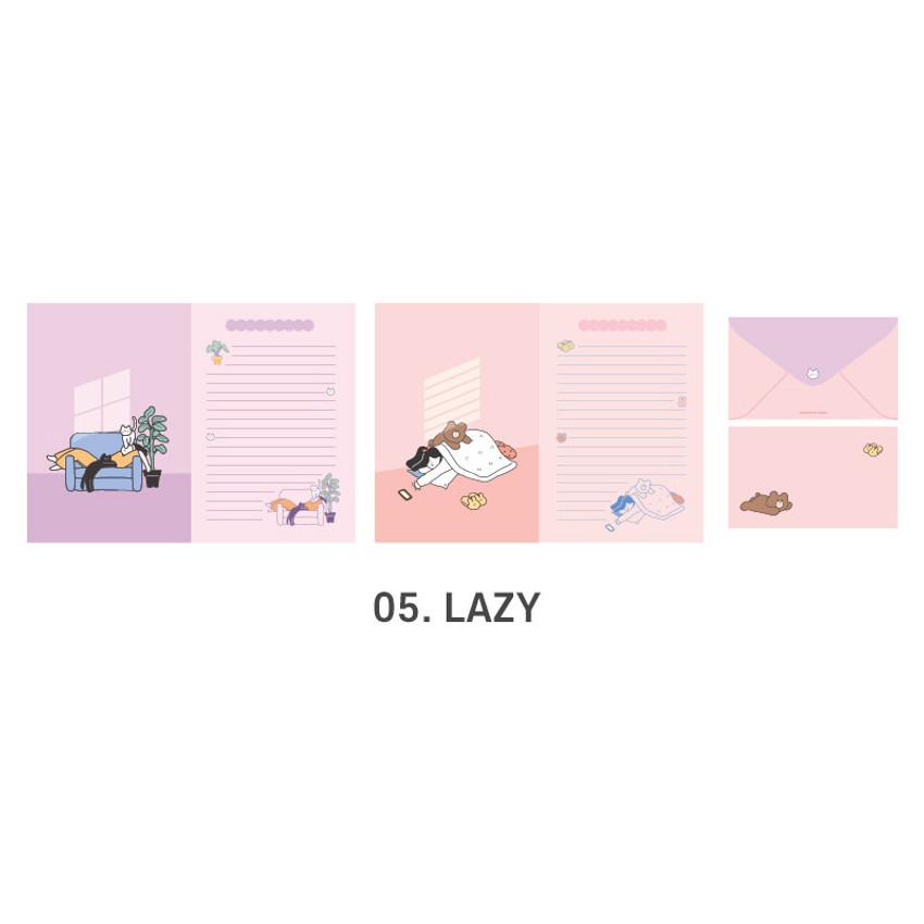 05 Lazy - ICONIC Haru letter and envelope set