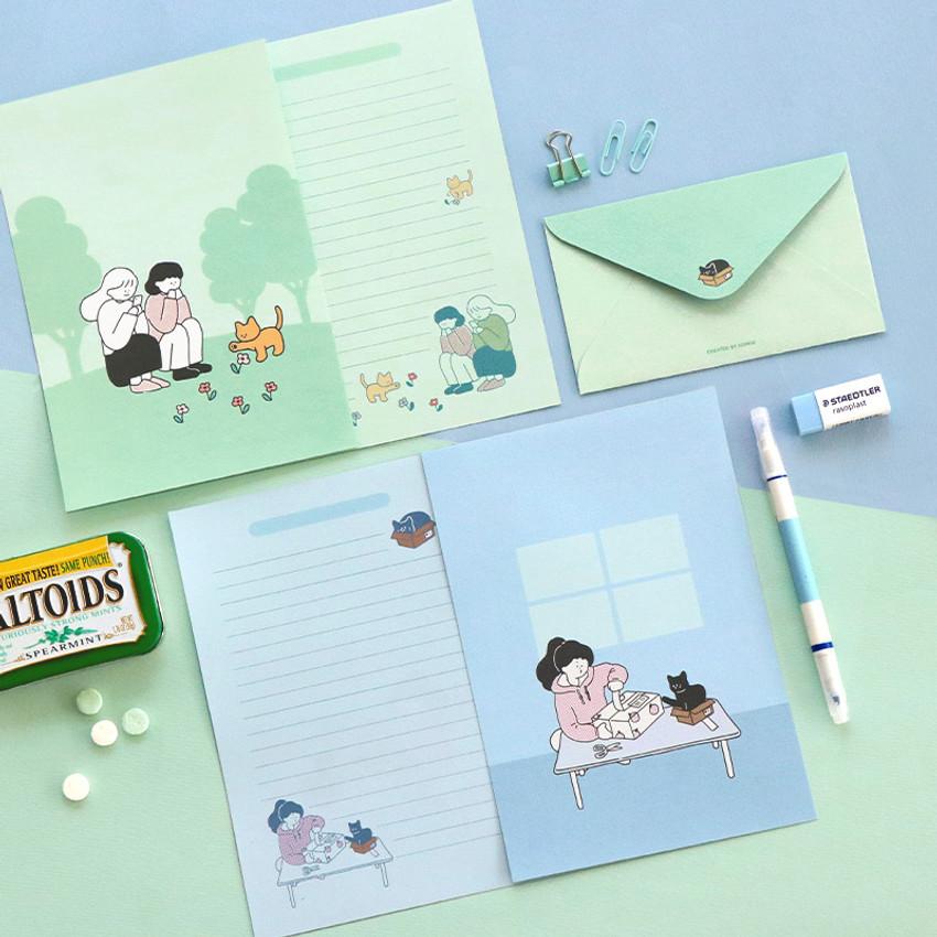 06 Catstagram - ICONIC Haru letter and envelope set