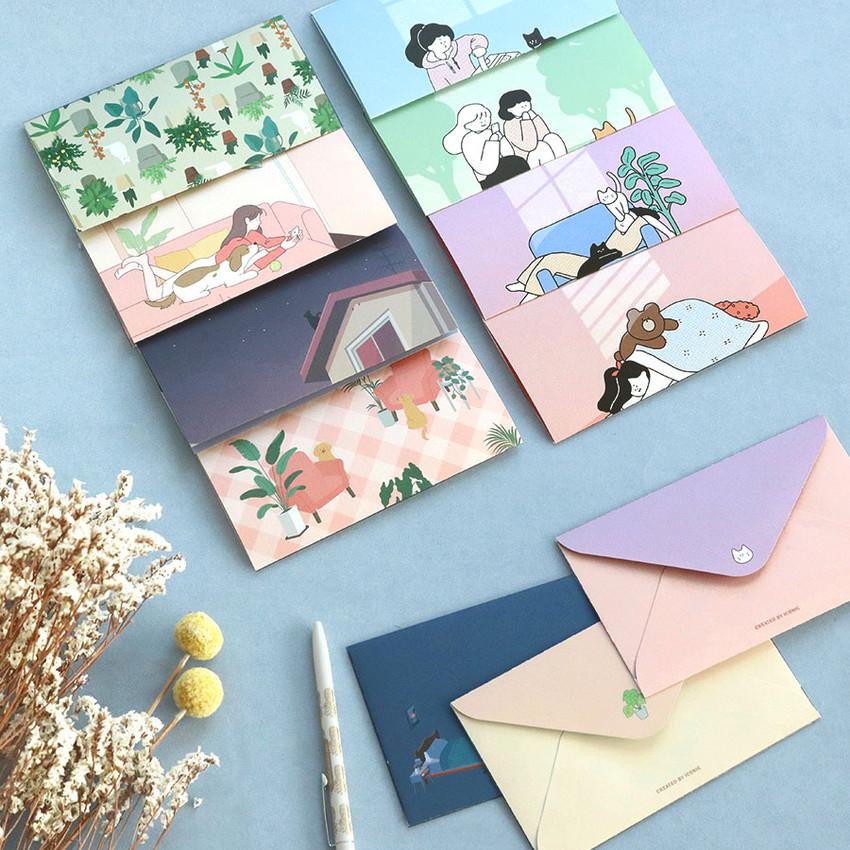 ICONIC Haru letter and envelope set