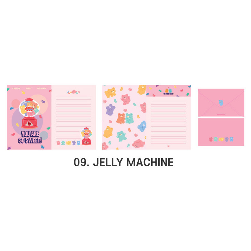 09 Jelly Machine - ICONIC Merry letter and envelope set