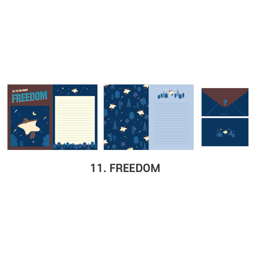11 Freedom - ICONIC Merry letter and envelope set