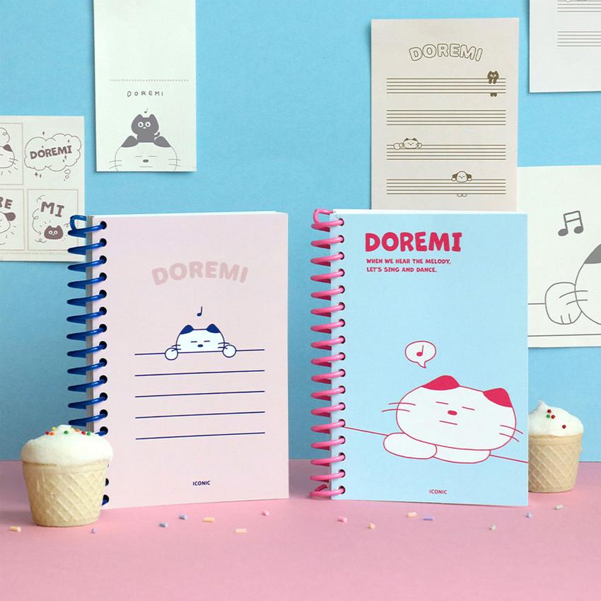 ICONIC Doremi A6 size spiral bound notebook