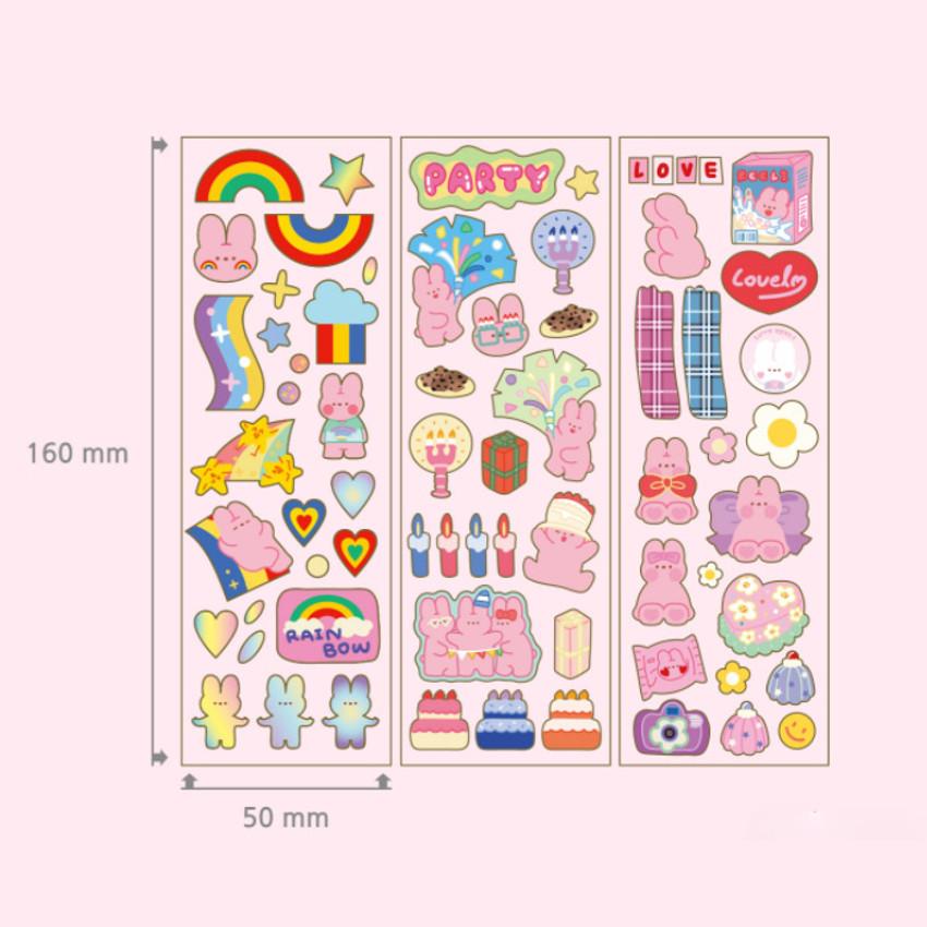 Size - DESIGN GOMGOM Reeli gold line clear sticker