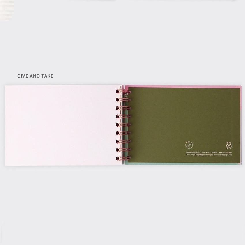 Give and take - SOSOMOONGOO Sojak5 Happy hobby spiral blank sketch book