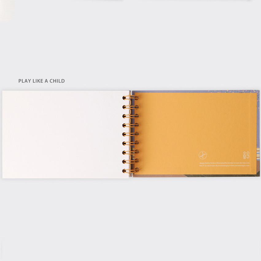 Play like a child - SOSOMOONGOO Sojak5 Happy hobby spiral blank sketch book