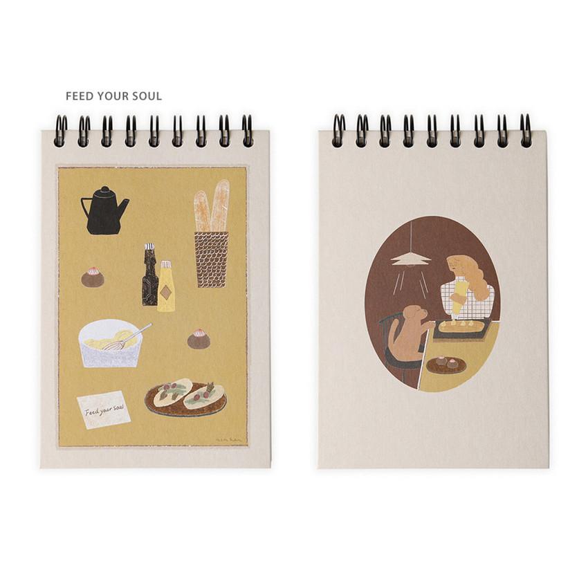 Feed your soul - SOSOMOONGOO Sojak5 Happy hobby spiral blank sketch book