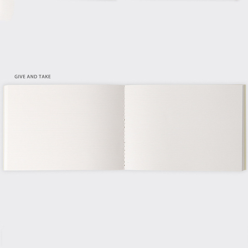 Give and Take - SOSOMOONGOO Sojak5 Happy hobby A6 size sewn bound notebook