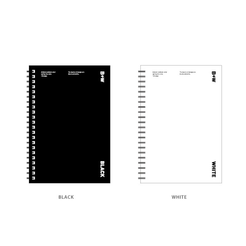 Color - Ardium B+W wire bound hardcover lined notebook