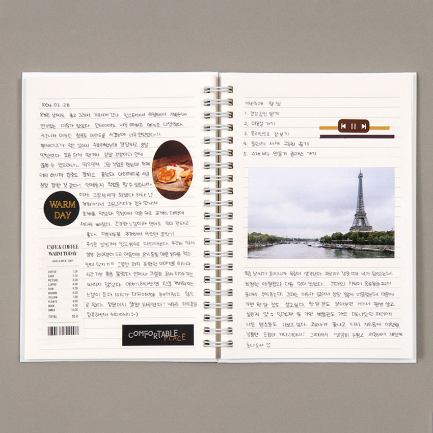 Usage example - Ardium B+W wire bound hardcover lined notebook