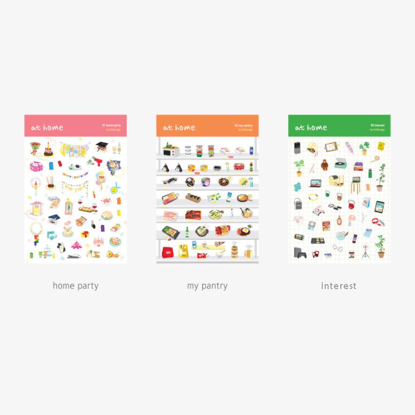 Option - Byfulldesign At home useful deco sticker sheet set ver2