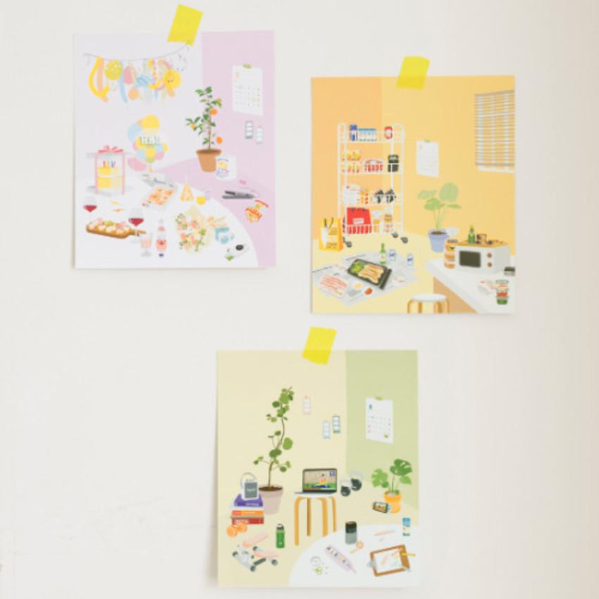 Byfulldesign At home useful deco sticker sheet set ver2